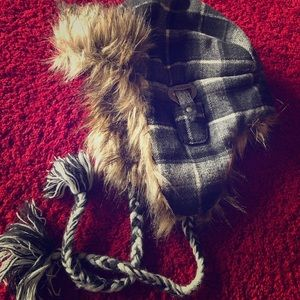 Bomber hat with fur